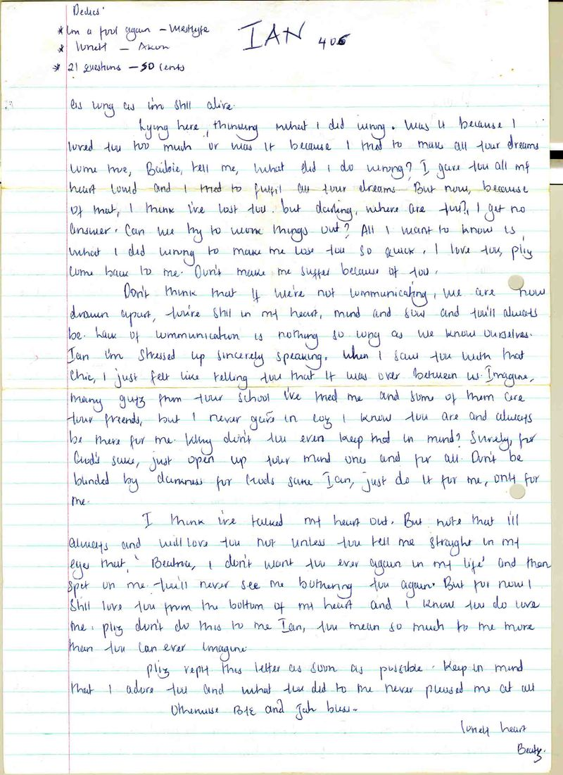 My letters1
